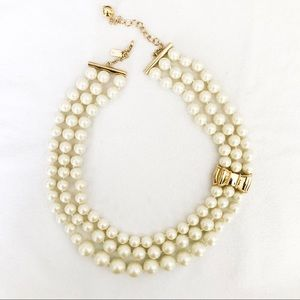 Kate Spade Moon River Three Strand Pearl Necklace